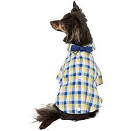 Pup Crew Plaid Button Down w/ Bow Tie Dog Shirt, Small