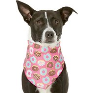 Pup Crew Donut Print Dog & Cat Bandana, Medium/Large