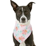 Pup Crew Pink Floral Dog & Cat Bandana, Medium/Large