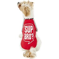 "Pup Crew ""Sup Bro?"" Dog & Cat T-Shirt, Medium"