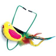 Ethical Pet A-Door-Able Bouncing Bird with Feather Tail Cat Toy, Color Varies