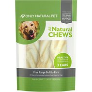 Only Natural Pet Free-Range Buffalo Ears Dog Chews, 3 count