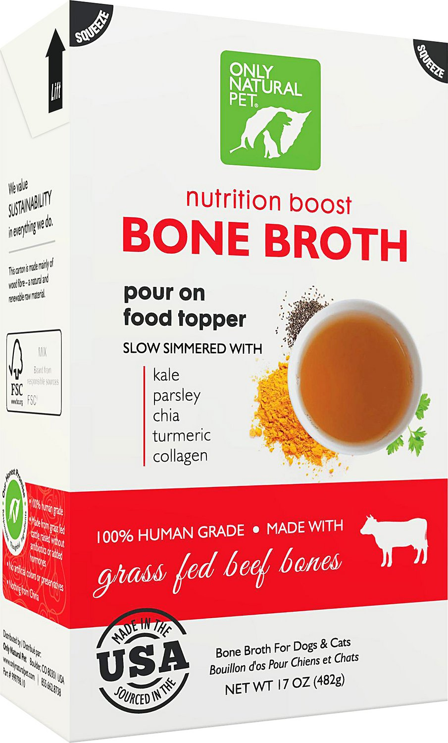 Only Natural Pet Grass Fed Beef Bone Broth For Dogs Amp Cats