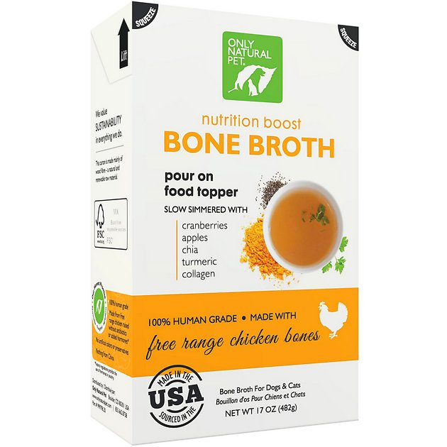 Only Natural Pet Free Range Chicken Bone Broth For Dogs