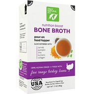 Only Natural Pet Free-Range Turkey Bone Broth for Dogs & Cats, 17-oz box