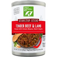 Only Natural Pet Stovetop Stews Beef & Lamb Grain-Free Canned Dog Food, 12.5-oz, case of 12