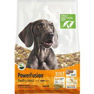 Only Natural Pet PowerFusion Poultry Feast Grain-Free Raw Infused Dry Dog Food, 4-lb bag