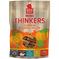 Plato Mini Thinkers Pumpkin & Turkey Recipe Grain-Free Dog Treats, 8-oz bag