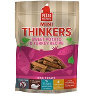 Plato Mini Thinkers Sweet Potato & Turkey Recipe Grain-Free Dog Treats, 8-oz bag