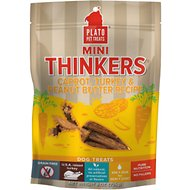 Plato Mini Thinkers Carrot, Turkey & Peanut Butter Recipe Grain-Free Dog Treats, 8-oz bag