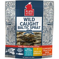 Plato Wild Caught Baltic Sprat Dog Treats, 3-oz bag