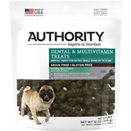 Authority Dental & Multivitamin Grain-Free Dental Dog Treats, Extra Small, 40 count