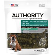 Authority Dental & Multivitamin Grain-Free Dental Dog Treats, Medium, 10 count