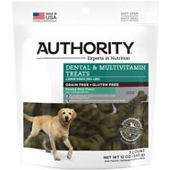 Authority Dental & Multivitamin Grain-Free Dental Dog Treats, Large, 7 count