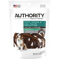 Authority Puppy Dental & DHA Rings Small Breed Grain-Free Dental Dog Treats, 8 count