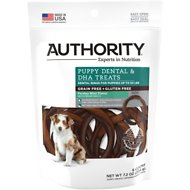 Authority Puppy Dental & DHA Rings Grain-Free Dental Dog Treats, 6 count