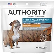 Authority Skin & Coat Support Chicken Formula Grain-Free Jerky Dog Treats, 16-oz bag