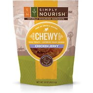 Simply Nourish Chewy Chicken Grain-Free Jerky Dog Treats, 16-oz bag
