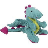 GoDog Dragons with Chew Guard Plush Dog Toy, Turquoise, Large