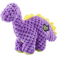 GoDog Dinos Chew Guard Bruto Dog Toy, Purple, Tiny
