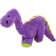 GoDog Dinos Chew Guard Bruto Dog Toy, Purple, Large