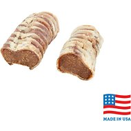 USA Bones & Chews Peanut Butter Flavored Filled Trachea Dog Treats, 2 count