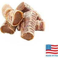 USA Bones & Chews Peanut Butter Flavored Filled Trachea Dog Treats, Case of 20