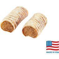 USA Bones & Chews Bully & Beef Flavored Filled Beef Trachea Dog Treats, 2 count