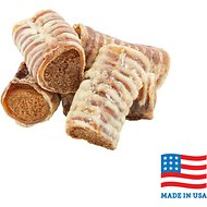 USA Bones & Chews Bully & Beef Flavored Filled Beef Trachea Dog Treats, Case of 20