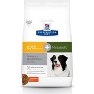 Hill's Prescription Diet Metabolic + Urinary, Weight + Urinary Care Chicken Flavor Dry Dog Food, 8.5-lb bag