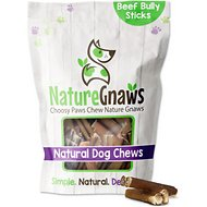 "Nature Gnaws Bully Stick Bites 2 - 3"" Dog Treats, 30 count"