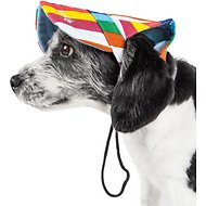 Pet Life UV Protection Multicolored Adjustable Dog Hat, Medium