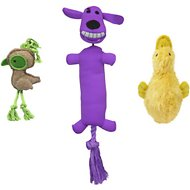 Multipet Plush Assortment Dog Toys, 3 pack, Color Varies