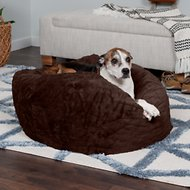 FurHaven Plush Ball Dog Bed, Espresso, Large