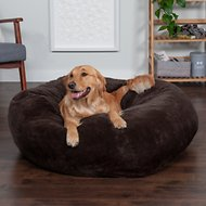 FurHaven Plush Ball Dog Bed, Espresso, Jumbo