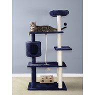 FurHaven 55-in  Deluxe Playground Cat Tree, Blue