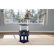 FurHaven Tiger Tough 46.5-in Soft Clubhouse Playground Cat Tree, Blue