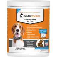 ThunderWunders Melatonin Calming Dog Chews, 180 Count