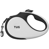 TUG Retractable Tape Dog Leash, 16-ft, White, Large