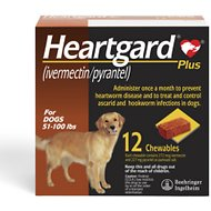 Heartgard Plus Chewable Tablets for Dogs, 51-100 lbs, 12 treatments