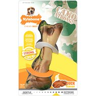 Nylabone Strong Chew Camo Bone Duck Dog Chew Toy, Wolf