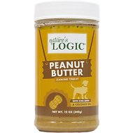 Nature's Logic Canine Peanut Butter Spread Dog Treat, 12-oz jar
