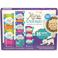 Purina Muse Creatables Variety Pack Wet Cat Food , 16 count