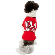 "Pup Crew ""Hola Chica's"" Dog T-Shirt, Small"