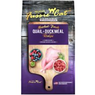 Fussie Cat Market Fresh Quail & Duck Meal Recipe Grain-Free Dry Cat Food, 2-lb bag