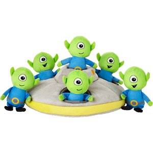 Frisco Hide and Seek Plush Flying Saucer Puzzle Dog Toy