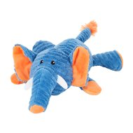 Frisco Corduroy Plush Squeaking Elephant Dog Toy