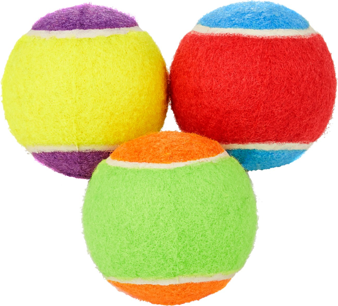 Frisco Fetch Squeaking Colorful Tennis Ball Dog Toy