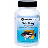 Thomas Labs Fish Doxy Doxycycline Antibacterial Fish Medication, 30 count