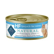 Blue Buffalo Natural Veterinary Diet HF Hydrolyzed for Food Intolerance Grain-Free Canned Cat Food, 5.5-oz, case of 24